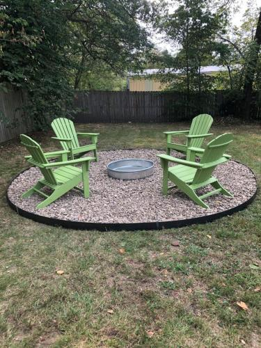 Cozy up to the Fire Pit, Blankets & Wood Provided